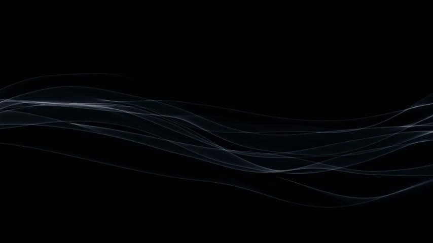 flowing lines : Wispy lines against black, seamless loop Stock Footage