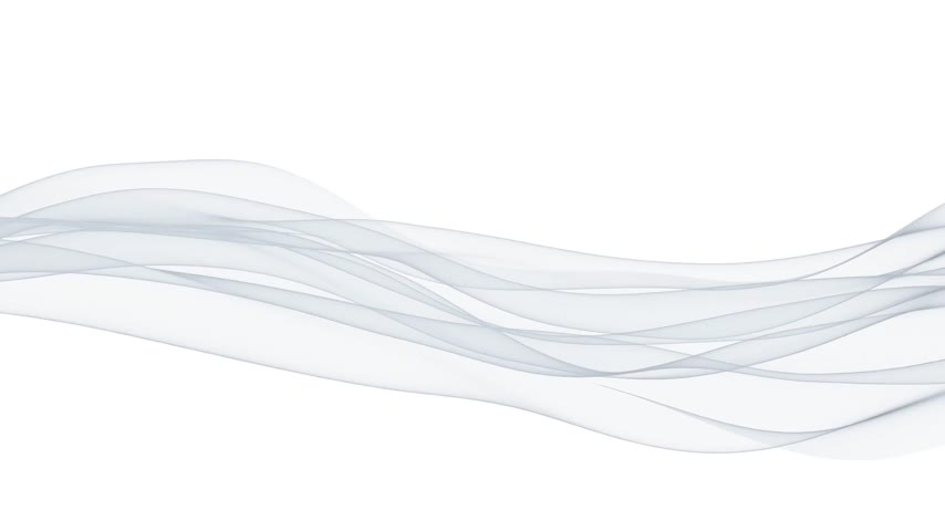 flowing lines : Wispy lines against white, seamless loop Stock Footage