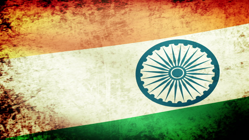 bandiera : Waving Flag India, grunge guardare