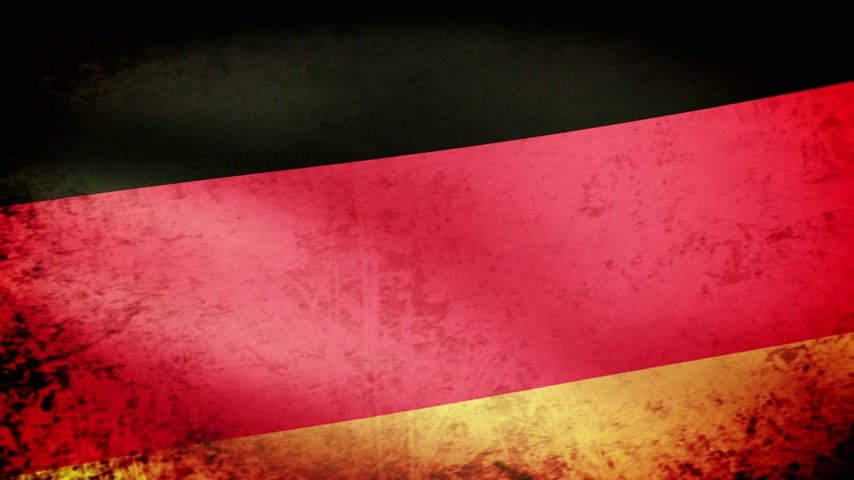 almanca : Germany Flag Waving, grunge look Stok Video