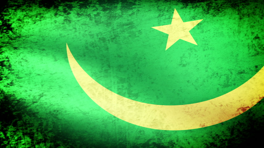 striscione : Mauritania Waving Flag, look grunge