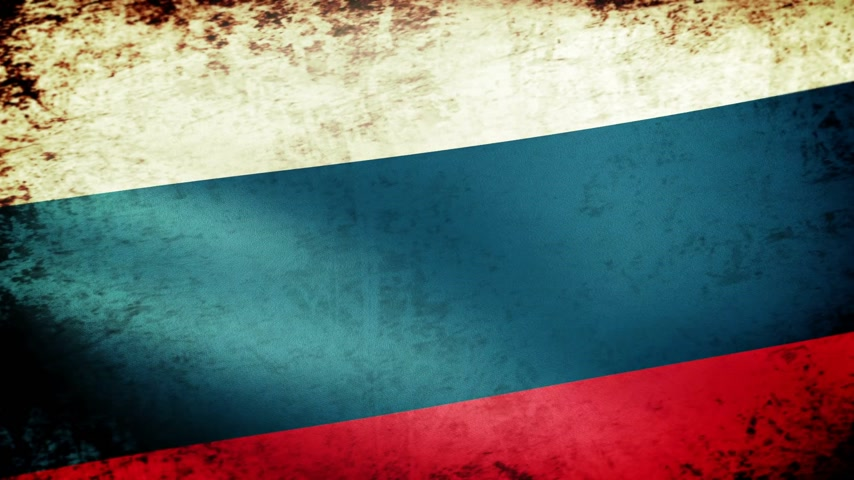 ruský : Russian Federation Flag Waving, grunge look