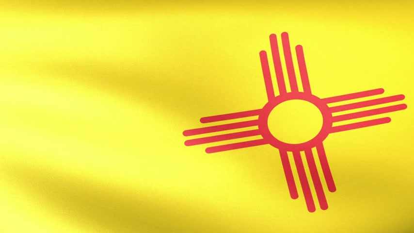 new world : New Mexico State Flag Waving
