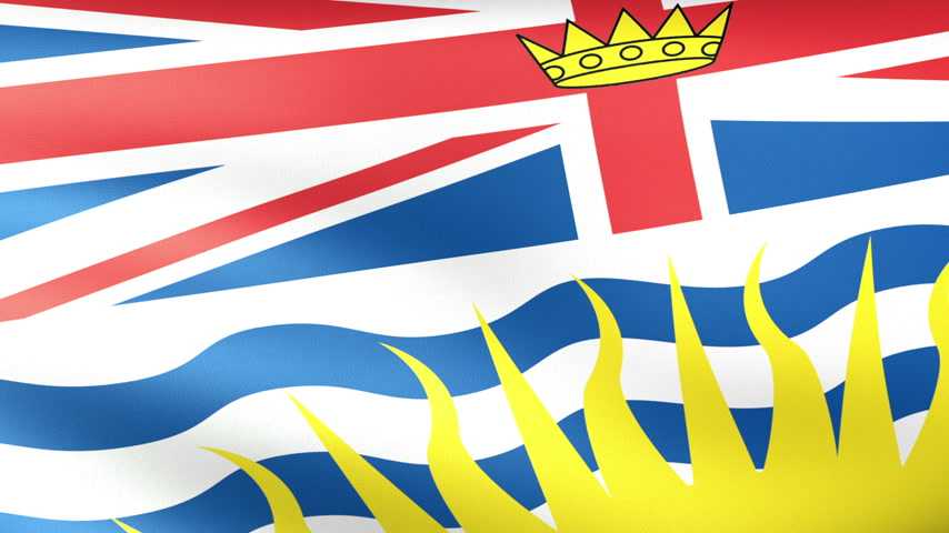 ingiliz columbia : British Columbia Flag Waving