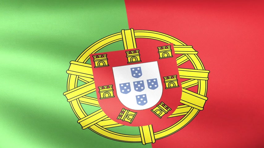 portugalsko : Portugal Flag Waving