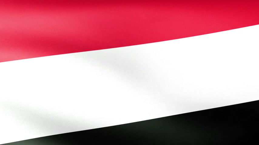 yemen : Yemen Flag Waving