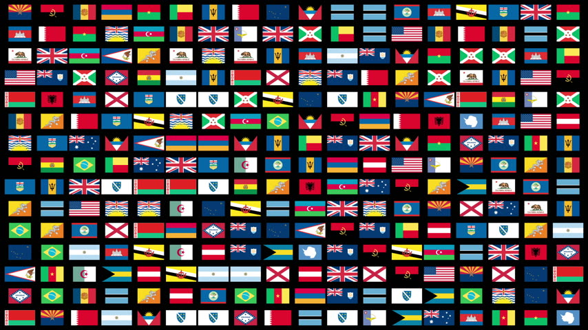 souprava : Flags of the World animation, Alpha