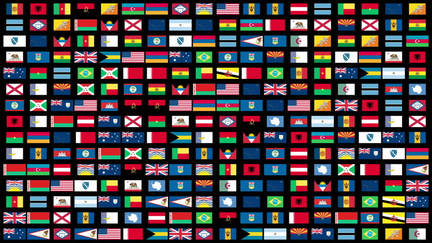egyesült : Flags of the World animation