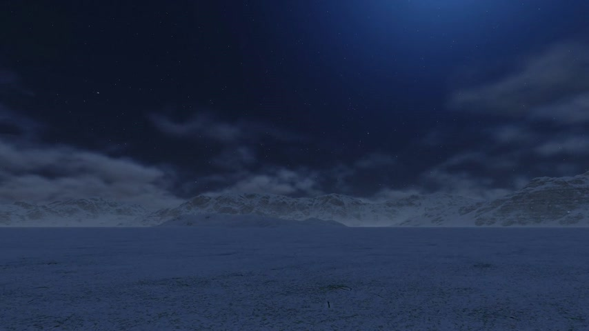 морозный : Flight from Snowy Mountain to the Moon, Time Lapse