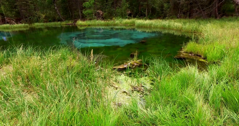 tökfej : Amazing blue geyser lake in the mountains of Altai