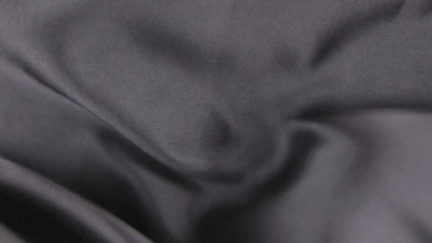 ipek : Wavy motion black fabric, top view Stok Video