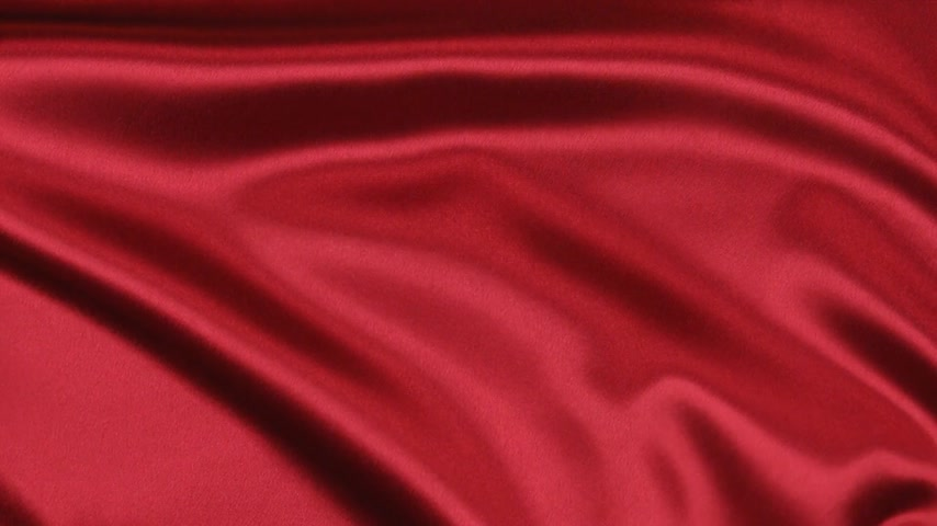 элегантный : Wavy motion red fabric, top view