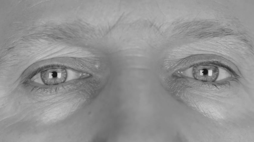 eyes closed : Close-up in black and white on  mans eyes, calm eyes, relax. HD Stock Footage