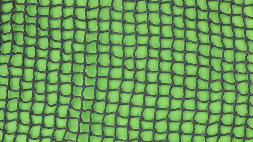 sznurek : Close-up, of the rotation of a fishing net. Isolated on green screen. Wideo