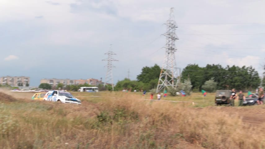 углы : Races of rally cars. Jumps rally cars.