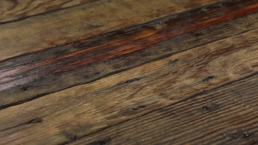 slider shot : Real old wood texture, vintage dark background. Camera moves from left to right. Stock Footage