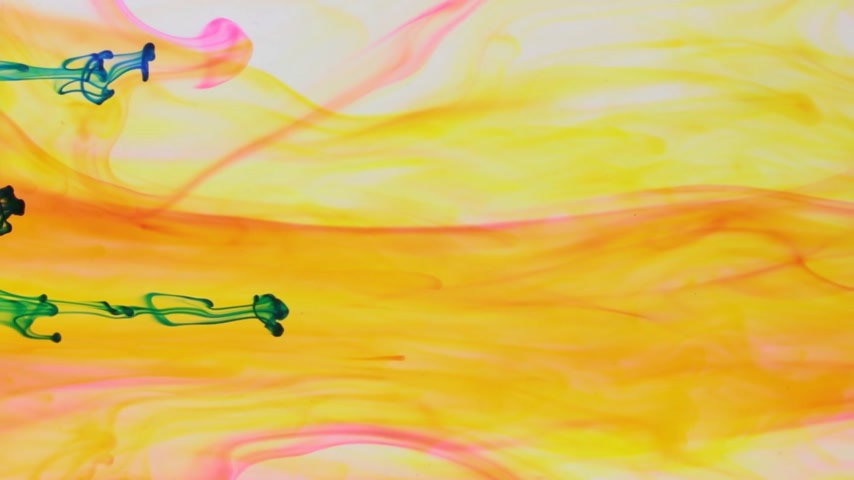 bica : Colorful paint in dynamic flow. Blue jet of ink on yellow background.