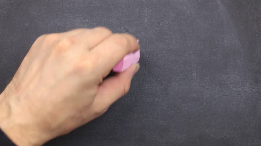 i love you : Small blackboard with the text i love you written on it in chalk. Stock Footage