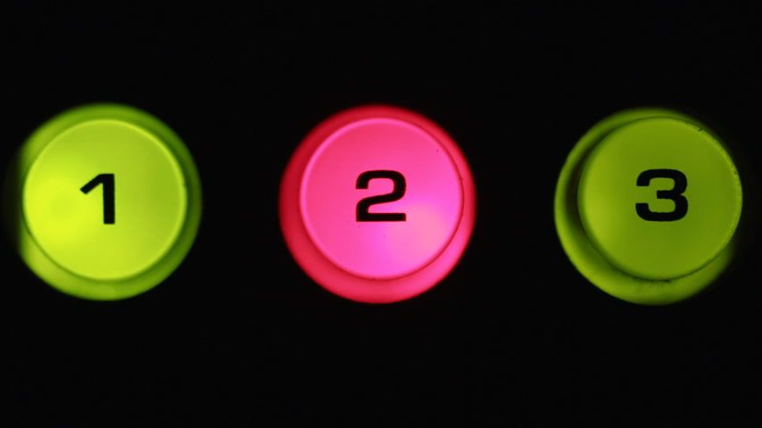 switching : Toggle buttons, selected button glows red. Close-up buttons.