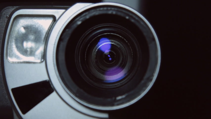 Camera zoom. Taking a close-up video cameras, increasing or decreasing scale. Stock Footage