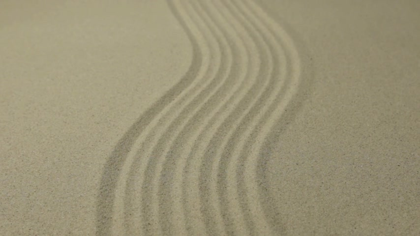 Approximation curve lines on the sand. Summer background. Stok Video