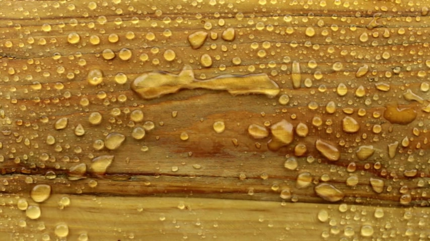 dauwdruppel : Wind blows away raindrops with a wooden texture.