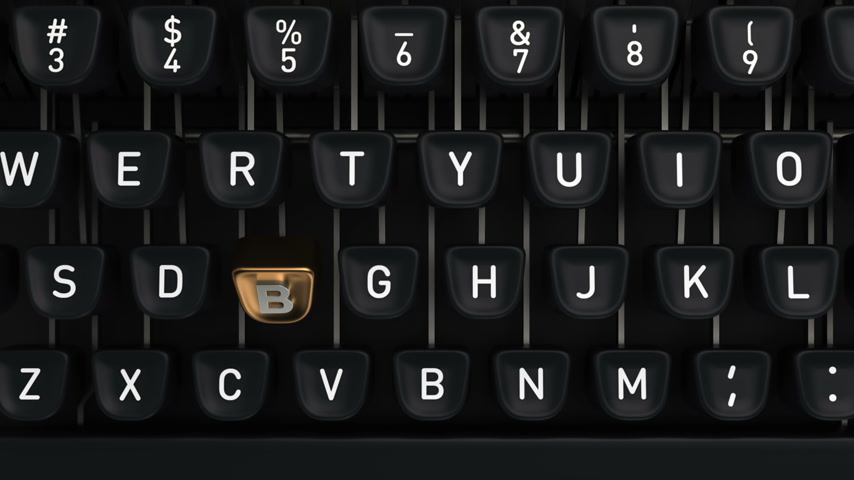 maszyna do pisania : Typewriter with Blog buttons