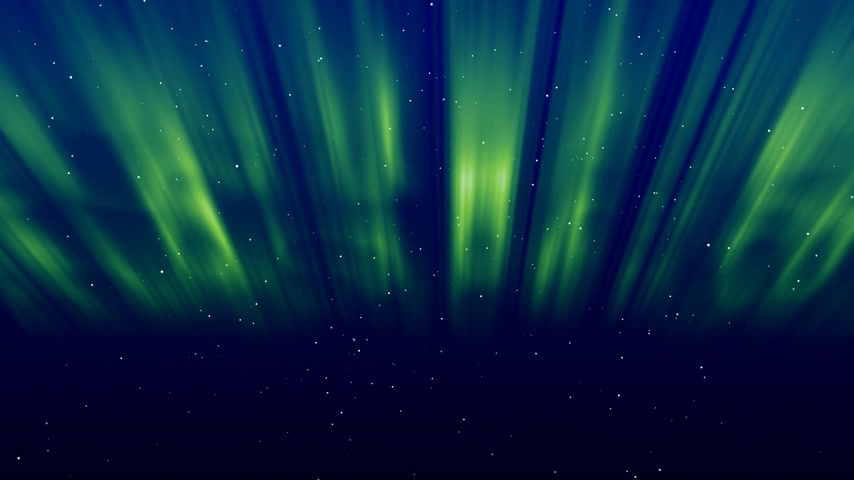 noordpool : Aurora groen Stockvideo