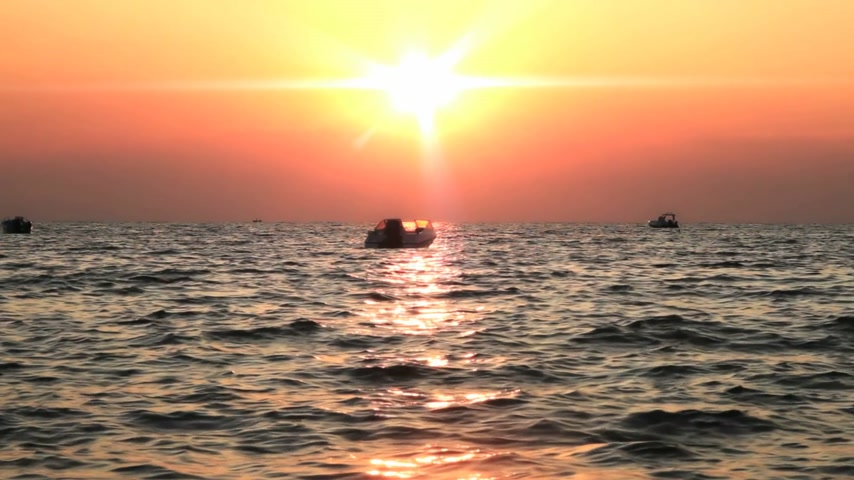 su üzerinde ufuk : sunset sea Stok Video