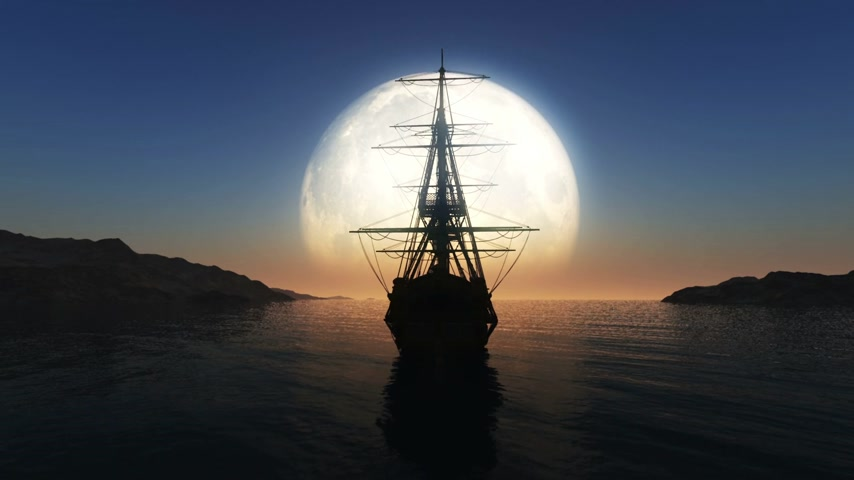 pirat : moon old ship