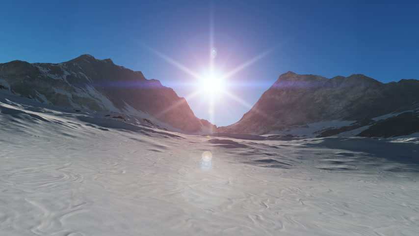 neve : mountain snow sun