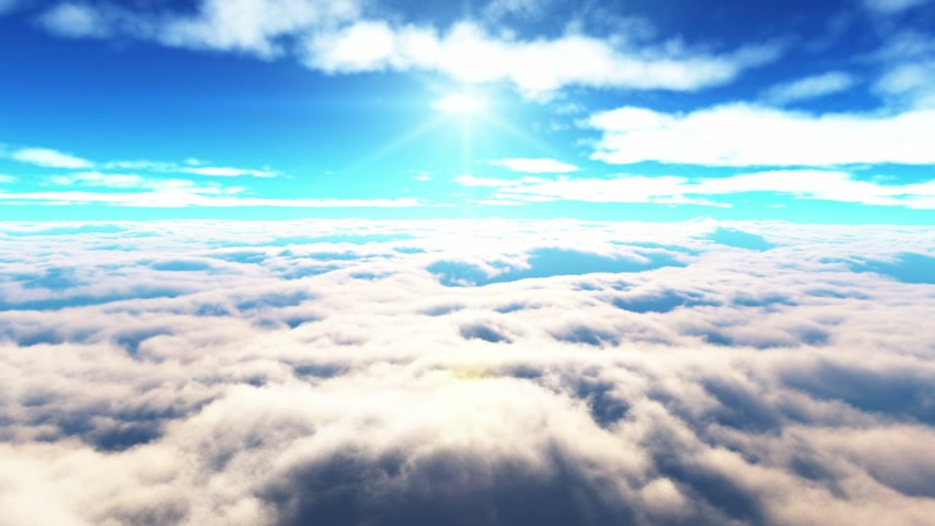 над : flying above the clouds
