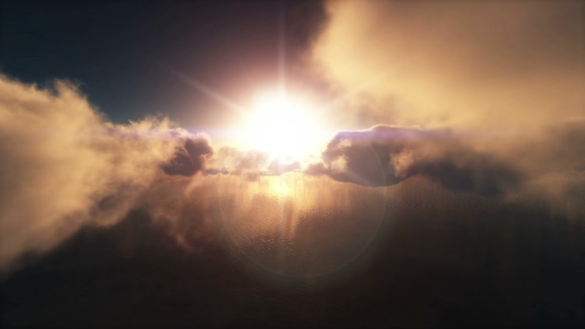 moscas : sunset over clouds and ocean Stock Footage