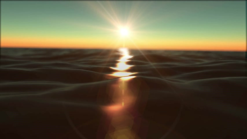 rudé moře : sunset ocean slow motion
