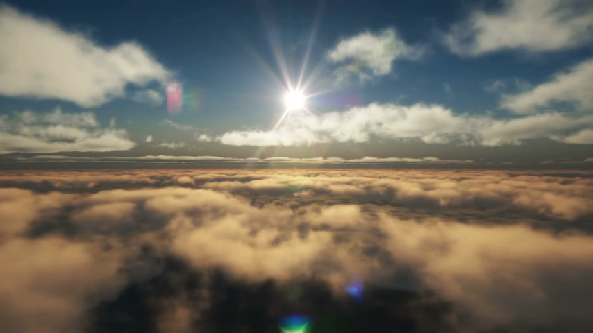 aircraft cabin : fly above clouds