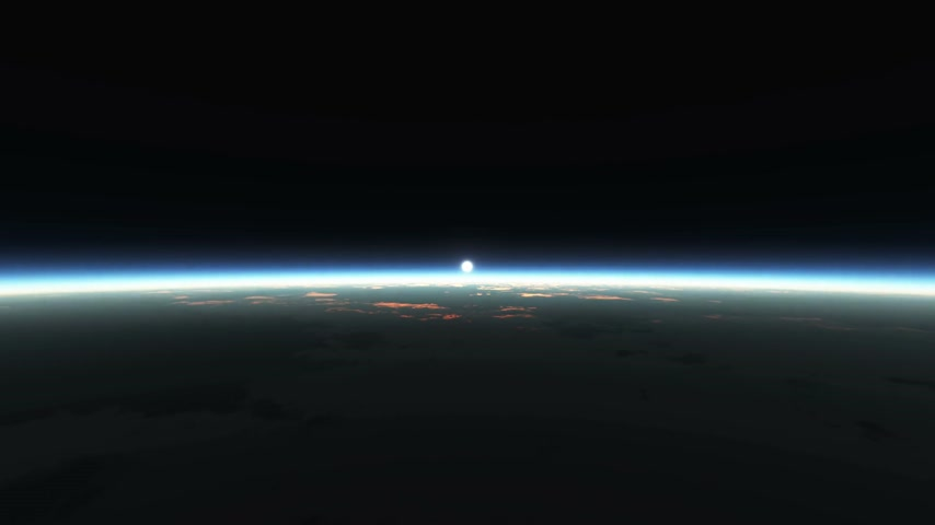 transitions : planet sunrise from space
