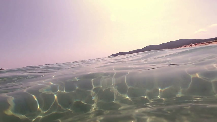 view from below : half in the water Stock Footage