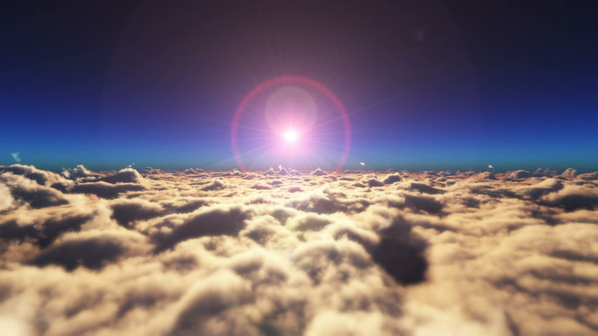 heaven : above clouds sunset Stock Footage