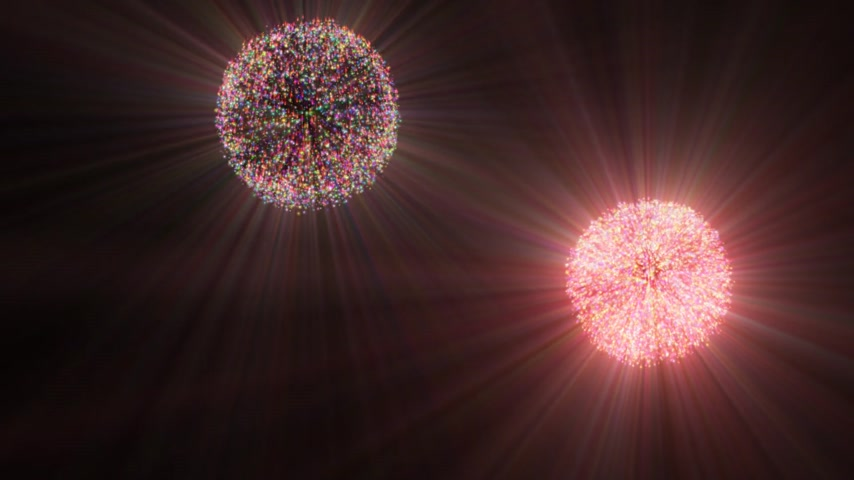 4分の1 : fireworks in sky abstract 動画素材