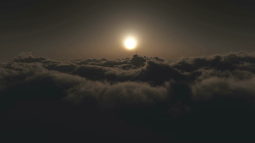 forro : fly in above clouds 4k