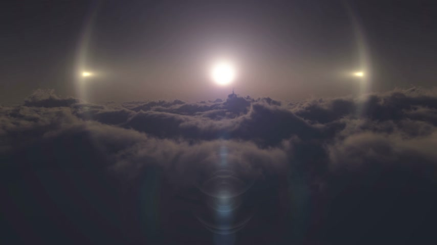 puffy clouds : fly in above clouds 4k