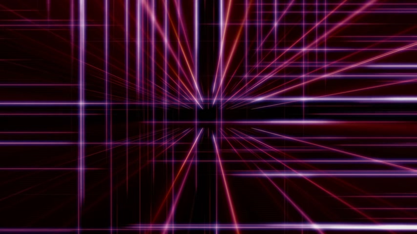 ketrec : 3d line neon cube in space