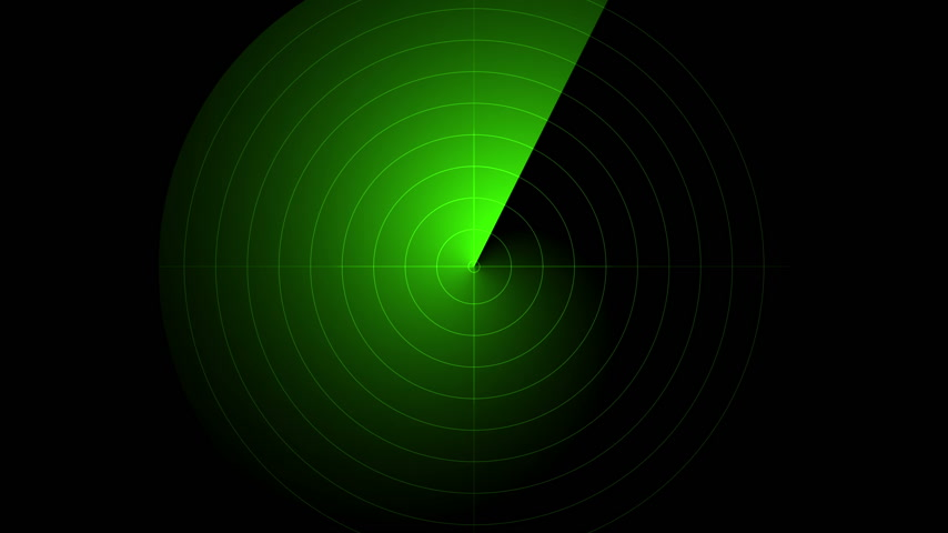 dark green : radar green screen display animated Stock Footage