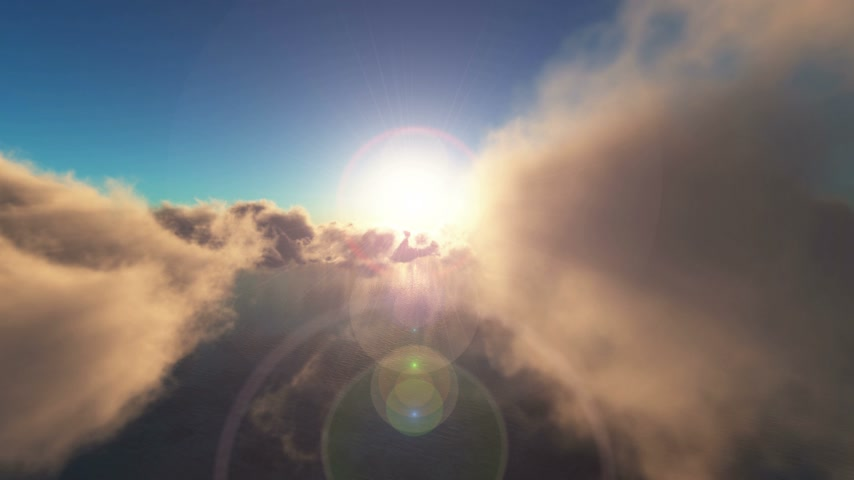 üzerinde : fly sunset above clouds and ocean 4k