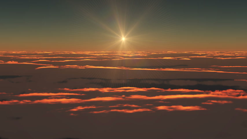 sonhar acordado : Flying above clouds sunrise hd