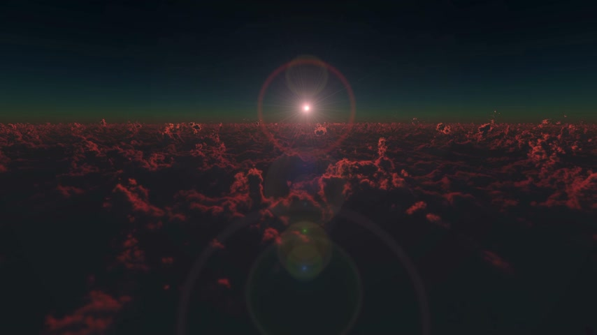 sztratoszféra : above over clouds sunrise 4k