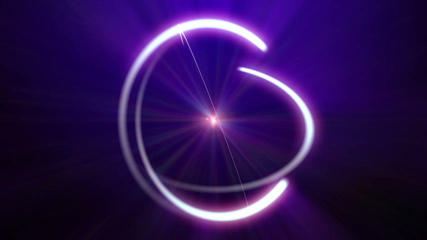 nuclear power : atom orbit ray light abstract
