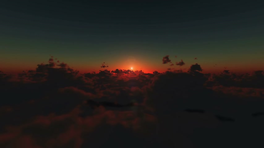 devanear : Flying above clouds sunrise hd