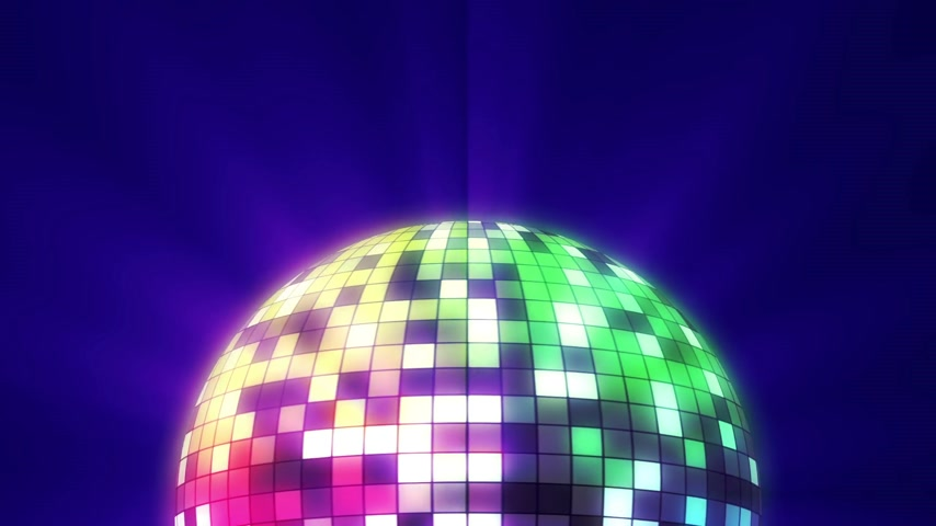 danse jazz : color disco ball 3d render