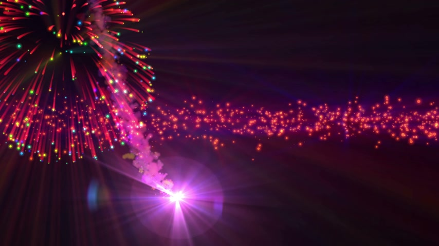 firework display : celebration abstract fireworks for new year 4k Stock Footage